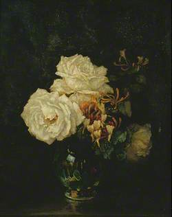 White Roses and Honeysuckle