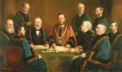 The First Mayor, Aldermen and Clerk of the Borough of Eastbourne (1883–1884)
