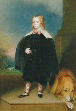 Scottish Child and Dog