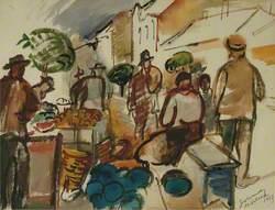 Market Scene at Mihalovce