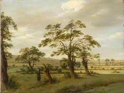Landscape with Two Cows