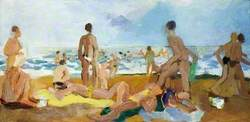 Study of Bathers on the Beach