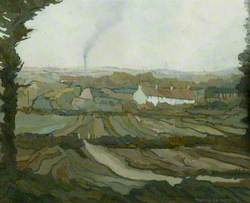 Landscape with Cottages, Clayworth, Nottinghamshire