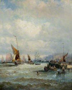 A Breezy Day, Mouth of the Thames