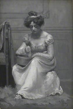 Girl with Basket and Beads