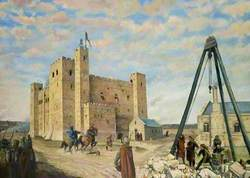 Colchester Castle under Construction