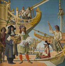 Harwich in the Late XVII Century (Samuel Pepys, MP for Harwich, Inspecting the King's Navy)