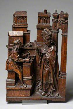Saint Dunstan Rebuking a Carpenter for Working on the Sabbath
