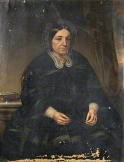 Portrait of a Lady Holding Her Spectacles