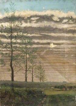 Landscape with Five Trees