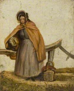 Woman Resting Her Basket on a Stile