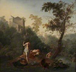 Landscape with Three Bathers and a Goat