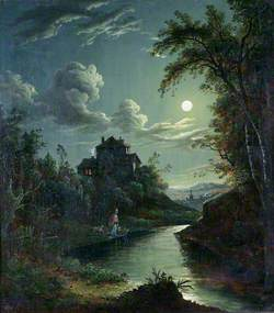 A Landscape and River Scene