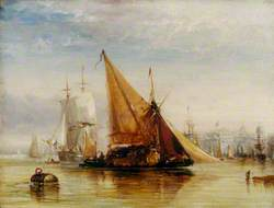 Shipping off the Royal Naval Hospital, Greenwich