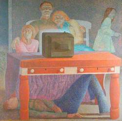 The Trojan Horse (Family Watching Television)