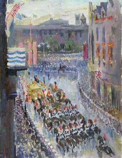 The Procession in Whitehall, Coronation