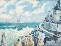 Seascape with Royal Naval Ships c.1943