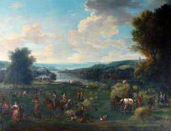 View of the Severn Valley with Haymaking and Figures
