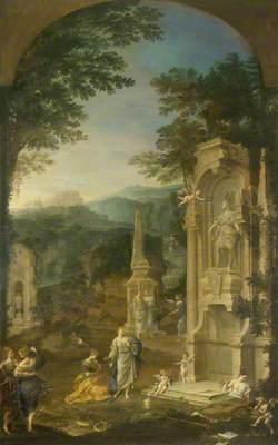 Allegorical Tomb of Joseph Addison (1642–1719), Essayist and Poet