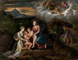 Virgin and Child in a Landscape with the Child Baptist and Saint Catherine of Alexandria