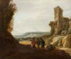 Landscape with Figures and a Ruined Castle