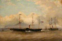 The British and North American Royal Mail Steam Ships 'Europa' and 'Niagara' off the Tail of the Bank