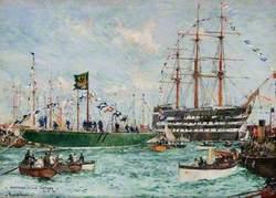 'Shamrock IV' and 'Victory', 26 May 1914