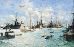 'Shamrock IV' Leaving for New York from Portsmouth, 18 July 1914