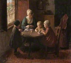 Interior with a Woman and Children