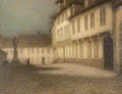A Beauvais Square by Moonlight