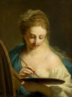 Young Woman Painting