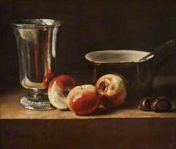 Still Life with Apples and a Silver Goblet