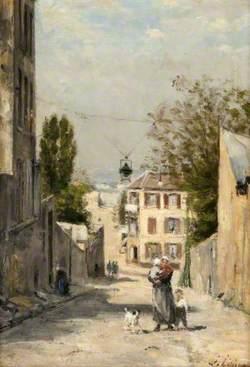 The Rue de Norvins, Montmartre