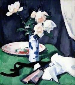 Still Life, White Roses