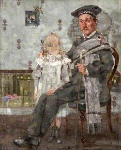 Shepherd Seated with a Small Girl