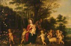 The Holy Family in a Wooded Landscape
