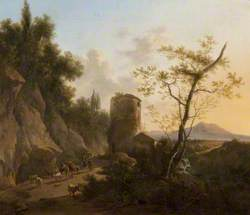 Landscape with a Ruined Tower and Figures