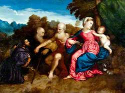 Virgin Mary and Child with Saints Jerome and Anthony Abbot and a Donor