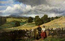 Trysting Place, Landscape with Cattle and Sheep