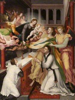 San Ildefonso Receiving the Chasuble