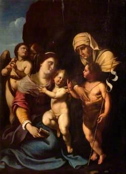 Madonna and Child, with Saint Elizabeth and Saint John