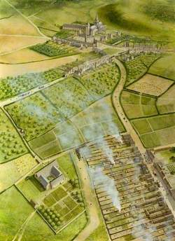 Shuttle Street, Franciscan Friary Reconstruction Illustration