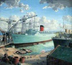 TSS 'Caronia' Fitting Out at Clydebank