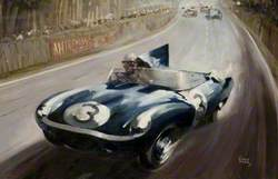 D-Type Jaguar at Le Mans 1957