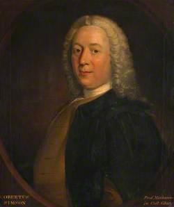 Robert Simson (1687–1768), Professor of Mathematics at the University of Glasgow (1712–1761) and Clerk of Senate (1728–1761)
