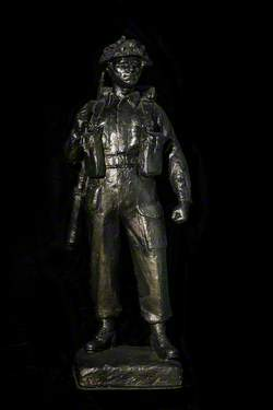 One-third Scale Cast for a Memorial to the Royal Scots Fusiliers who Fell in the Second World War
