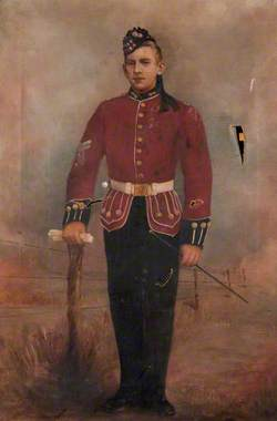Portrait of a Royal Scots Fusiliers Soldier