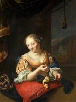 Portrait of a Lady Slicing a Lemon