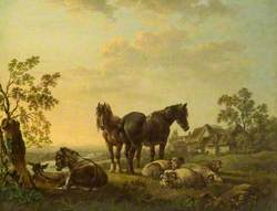 Horses and Sheep