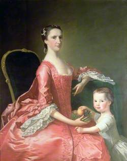 Mrs Bowles, Wife of Canon Bowles, and Her Child